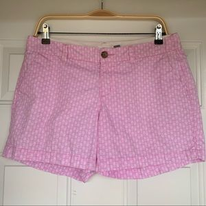 Old Navy Pink/White Pineapple Shorts - size 6
